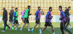 Armenian national football team's open training session befor the match against Kazakhstan