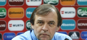 Press conference of head coach of Kazakhstan national football team Aleksandr Borodyuk