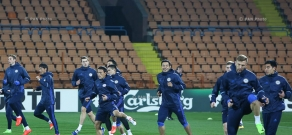 Kazakhstan National Football Team's open training befor match against Armenia