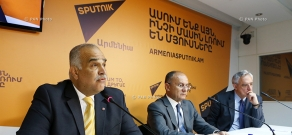Press conference of the representatives of ORO alliance Seyran Ohanyan, Raffi Hovannisian and Vartan Oskanian