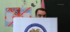 Armenia parliamentary elections: Head of Armenian Renaissance party's list Arthur Baghdasaryan cast a ballot