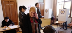 Armenia parliamentary elections: Polling station