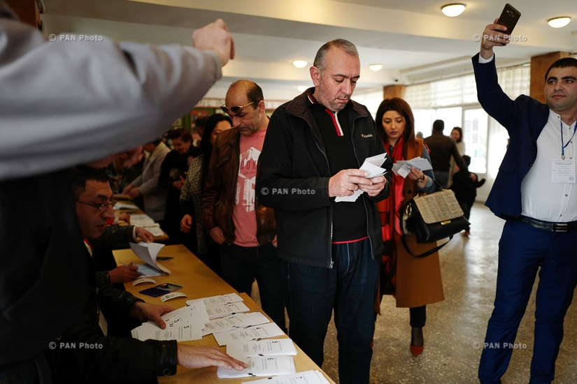 Voting at polling stations