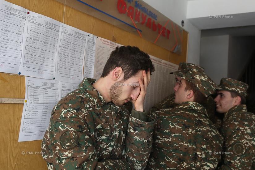 Servicemen vote