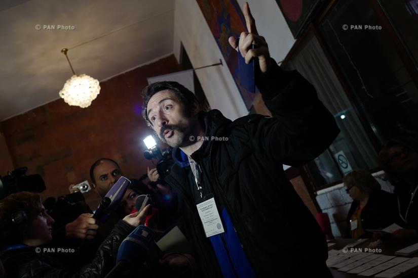 Actor Hayk Marutyan cast a ballot