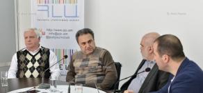 Press conference of political scientists Alexander Iskandaryan, Armen Baghdasaryan and sociologist Samvel Manukyan