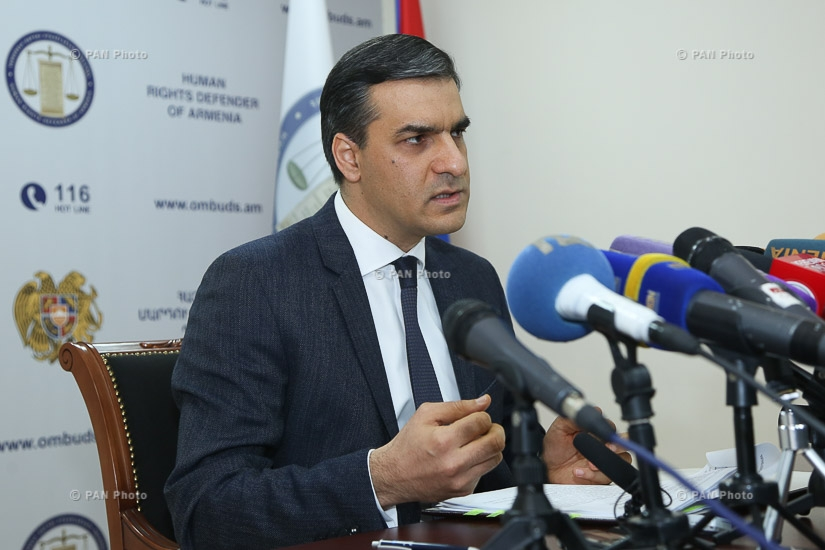Press conference by Human Rights Defender of Armenia Arman Tatoyan