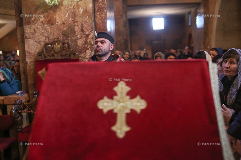 Holy Thursday: A Washing of Feet ceremony at Armenia's St. Sargis Church, symbolizing Christ's humility