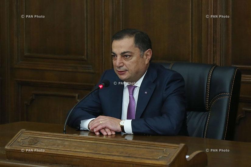 Briefing: Head of RPA parliamentary faction Vahram Baghdasaryan