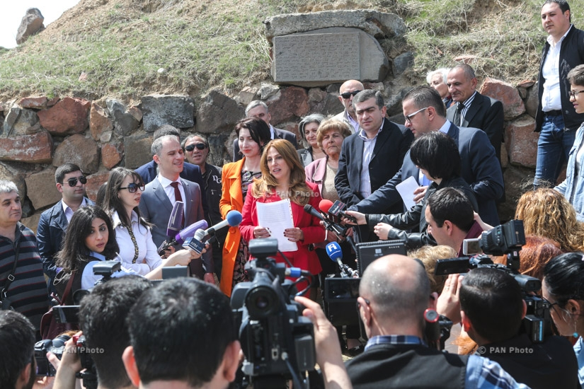 First press conference of party 'Yerkir Tsirani'
