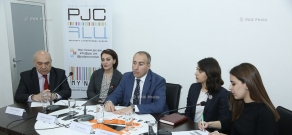 Press conference of Suren Krmoyan, Lusine Sargsyan, Lianna Doydoyan and Ashot Melikyan