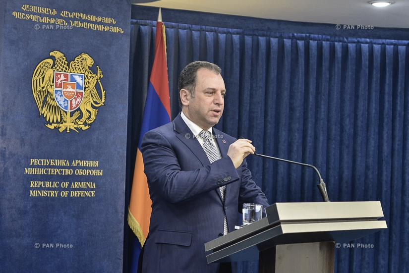 Press conference by Armenian Minister of Defense Vigen Sargsyan