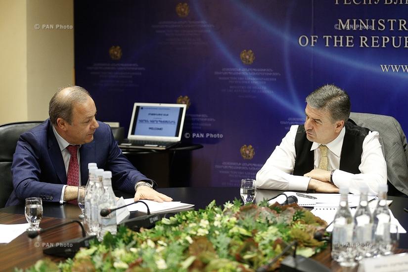 PM Karen Karapetyan visits Ministry of Health of Armenia