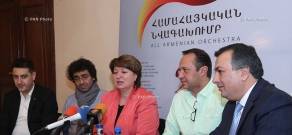 Press conference on the first concert of All-Armenian Orchestra