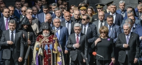 102nd anniversary of Armenian Genocide: High-ranking officials of RA visit Tsitsernakaberd Memorial Complex