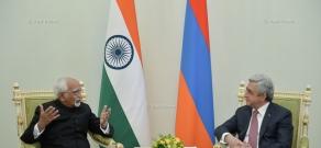 ՀՀ նախագահ Սերժ Սարգսյանը ընդունել է Հնդկաստանի փոխնախագահ Մոհամմադ Համիդ Անսարիին