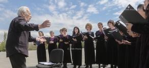 Concert of Chorus Charlotte (Israel) at Tsitsernakaberd memorial