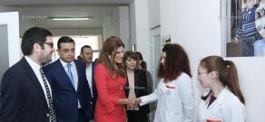 Հորդանանի արքայադուստր, Քաղցկեղի վերահսկման միջազգային միության նախագահ Դինա Մայրեդը այցելել է Մուրացան համալսարանական հիվանդանոց