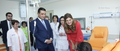 Director general of King Hussein Cancer Foundation, HRH Princess Dina Mired visited Hematology Center after prof. R.O.Yolyan in Yerevan