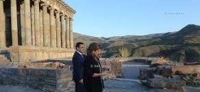 Հորդանանի արքայադուստր, Քաղցկեղի վերահսկման միջազգային միության նախագահ Դինա Մայրեդի այցը Գառնի և Գեղարդ