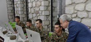 "President Serzh Sargsyan attended the official launch of the ""Tumo-Army"" project held in Artsakh"