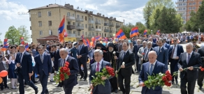Festive events in Stepanakert and Shushi dedicated to Victory Day, the 25th anniversary of creation of Artsakh Defense Army and liberation of Shushi