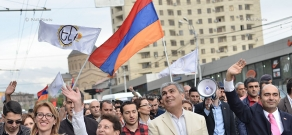 Campaign march of YELQ bloc ahead of Elections to Yerevan City Council