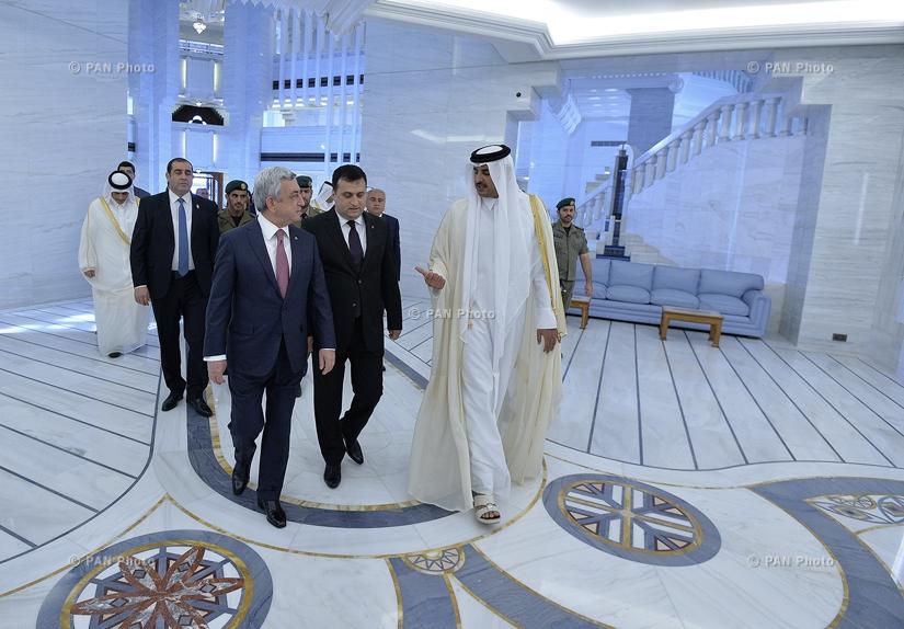RA President Serzh Sargsyan met with the Emir of Qatar Sheikh Tamim Bin Hamad al Thani