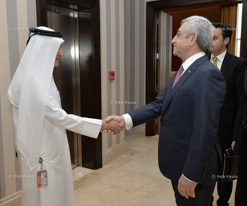 Armenian President Serzh Sargsyan met with the  CEO of Qatar Airways Akbar Al Baker