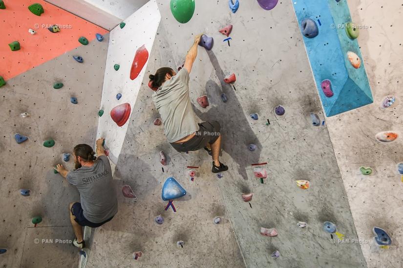 Sport climbing training