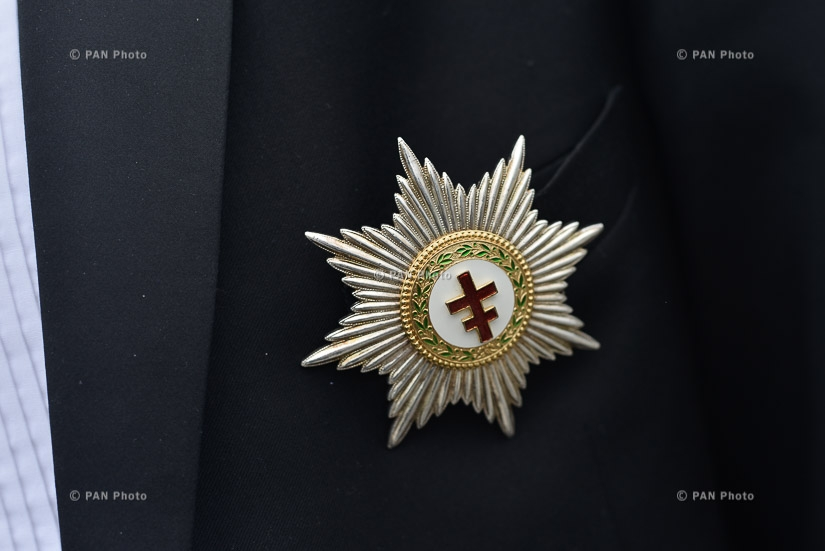 Рыцари Ордена тамплиеров посетили мемориальный комплекс Цицернакаберд