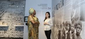 First Aurora Prize Laureate Marguerite Barankitse vistis Tsitsernakaberd Memorial and Armenian Genocide Museum