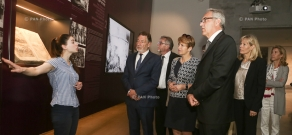 Delegation led by minister of science, research and culture of the German state of Brandenburg Martina Münch visits Armenian Genocide memorial - Tsitsernakaberd