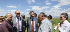 USAID, Coca-Cola Hellenic Bottling Company Armenia and UNDP GEF SGP in Armenia mark completion of irrigation system improvement project in the village of Hayasnist