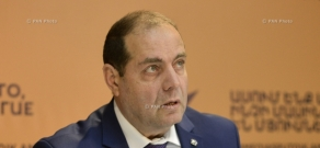 Press conference of CSTO Armenian Institute's chief Nver Torosyan