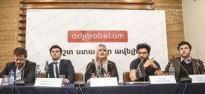 Presentation of  armenian version of  website of Adjarabet online  games