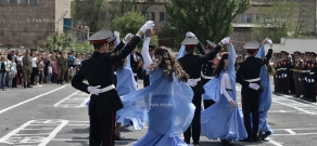 School graduation celebration at  Monte Melkonian Military and Sports College of RA Ministry of Defense
