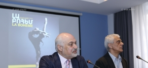 Press conference by Art Director of Opera and Ballet National Academic Theatre named after A. Spendiarian Constantine Orbelian and ballet master Rudolf Kharatyan