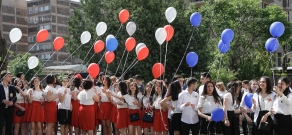 RA Minister of Education and Science Levon Mkrtchyan  participated in the graduation ceremony