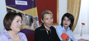Press conference of Anne Debard: the leading French expert on the etiquette and protocol