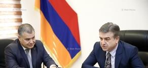 Armenian PM Karen Karapetyan Introduces newly appointed Minister of Justice David Harutyunyan