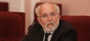 Press conference of Swiss scientists, professor Michael Mayer in Yerevan