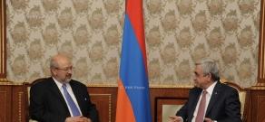 Armenian President Serzh Sargsyan received the OSCE Secretary General Lamberto Zannier