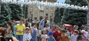 Festive event on the occasion of International Children's Day at  Armenian parliament yard