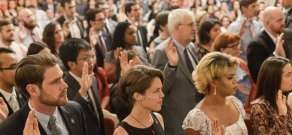 Swearing-in ceremony of new volunteers of Peace Corps in Armenia