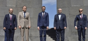 Minister of Foreign Affairs of  Republic of Estonia Sven Mikser visits Armenian Genocide memorial - Tsitsernakaberd