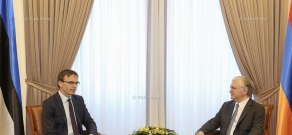 RA Minister of Foreign Affairs Edward Nalbandian receives Minister of Foreign Affairs of Estonia Sven Mikser
