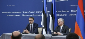 Joint press conference between RA Minister of Foreign Affairs Edward Nalbandian and Minister of Foreign Affairs of Estonia Sven Mikser
