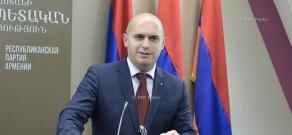 Пресс-конференция вице-президента партии РПА Армена Ашотяна