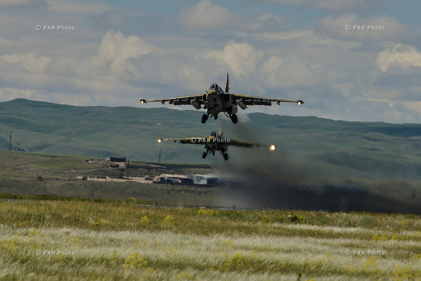 Training flights at Gyumri aviation unit